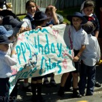 children wait to say happy birthday