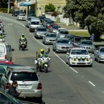 motorcade arriving at weta workshop