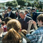 prince charles greets kids outside of weta cave